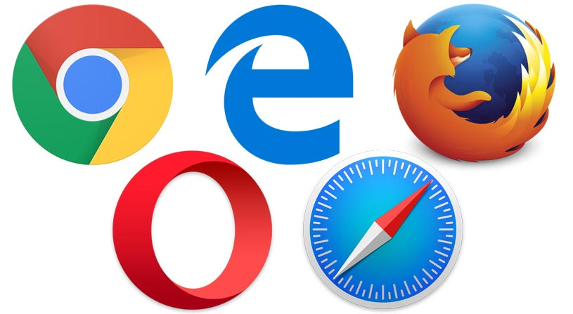 Main Internet Browsers 2018