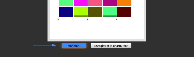Print the first test pattern with i1Studio